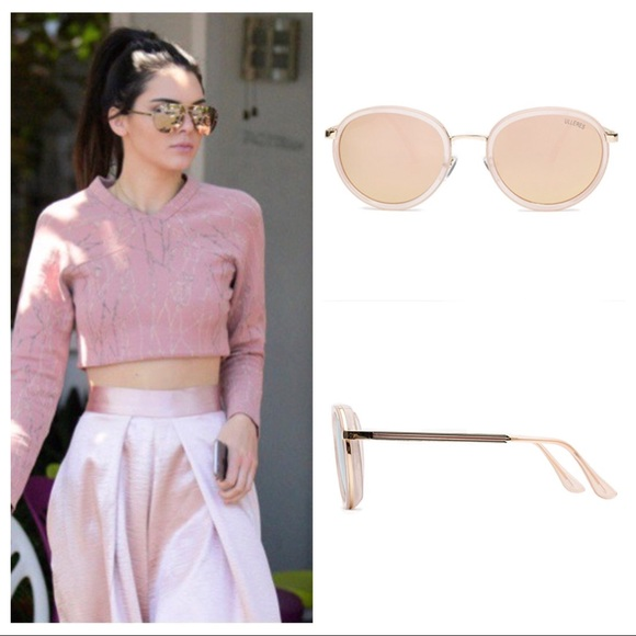 4a1aff25bd8b RETRO ROSE GOLD MIRROR OVERSIZED SUNGLASSES PINK